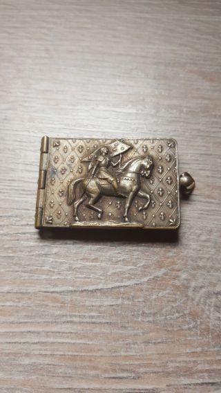 Anhänger Buch Ritter Pferd Aufklappbar Sehenswürdigkeiten Reims 6,  99 G Cp1893 Bild