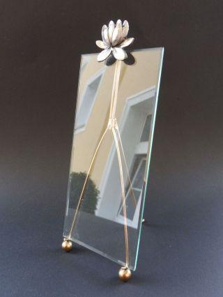 Jugendstil Seerose Foto Rahmen Art Nouveau Photo Frame Water Lily Glas Wmf Aera Bild