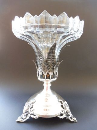 Jugendstil Farn Blatt Fern Tafelaufsatz Jardiniere Art Nouveau Kristall Wmf Aera Bild