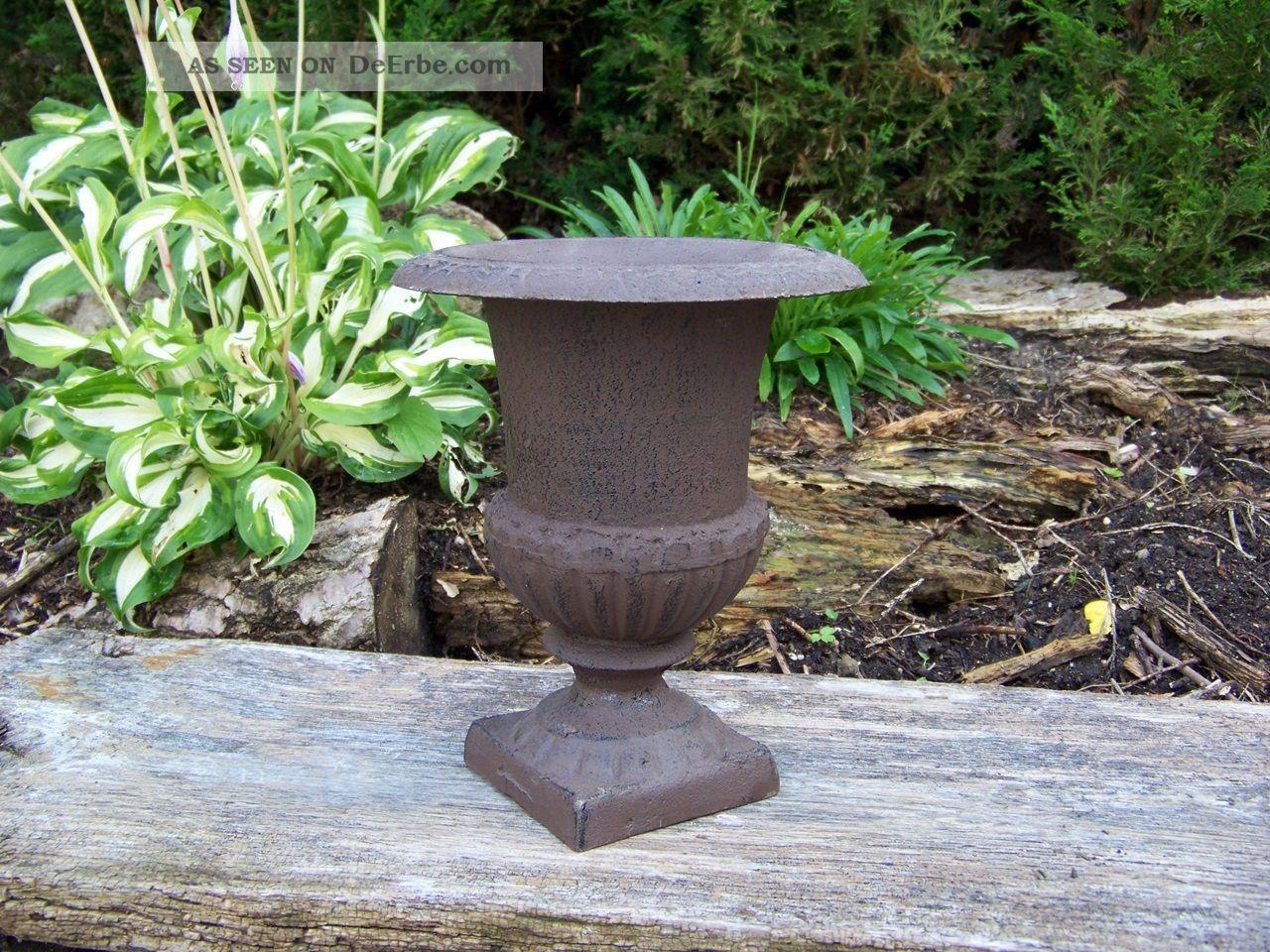 Französische Vase - Amphore Gusseisen H22 Cm Landhausstil Rost Antiklook Nostalgie- & Neuware Bild