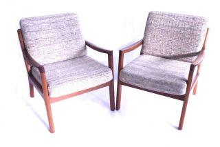 60s Ole Wanscher Mid Century Modern Teak Sessel 60er Easy Chair Cado DÄnemark Bild