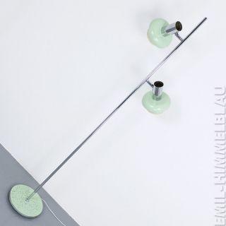 Alte Stehlampe Lampe Chrom Vintage 70s GrÜn 70er Floor Lamp Bild