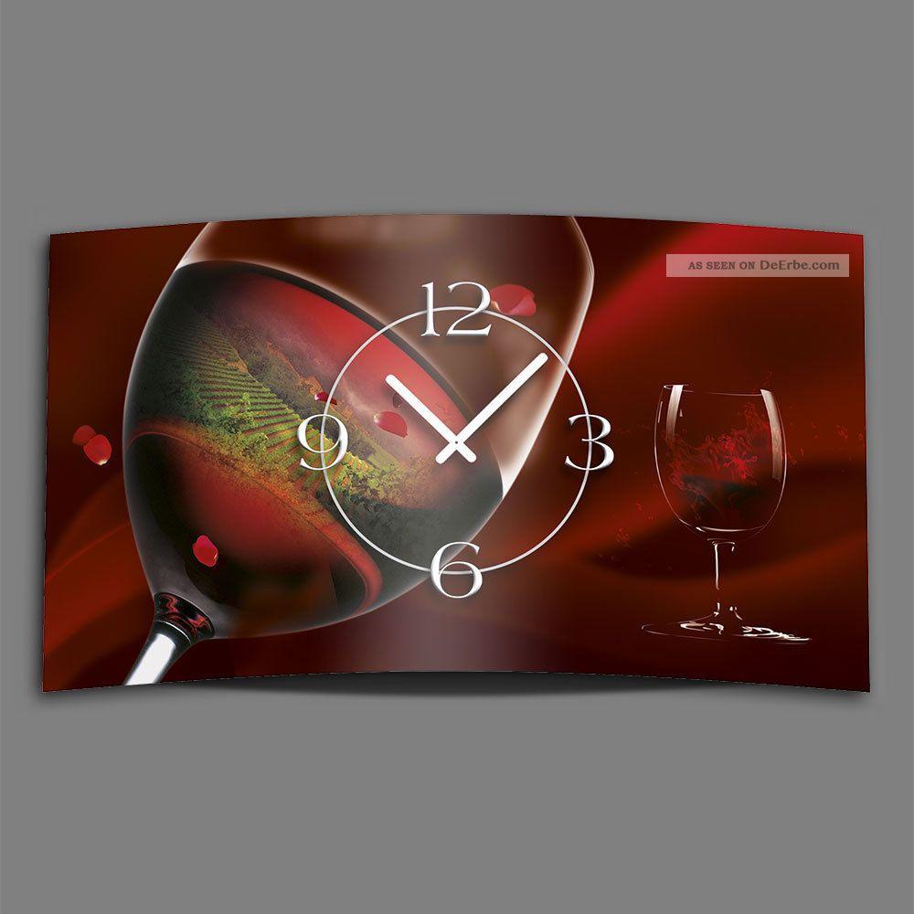 Ando Wohndesign: Rotwein Designer Wanduhr Modernes Wanduhren Design Leise