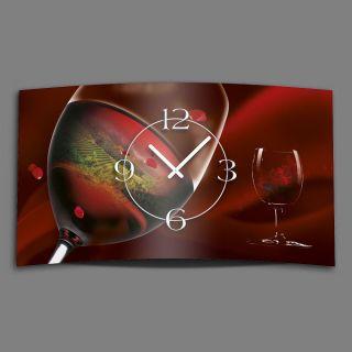 Rotwein Designer Wanduhr Modernes Wanduhren Design Leise Kein Ticken Dixtime 3d - Bild