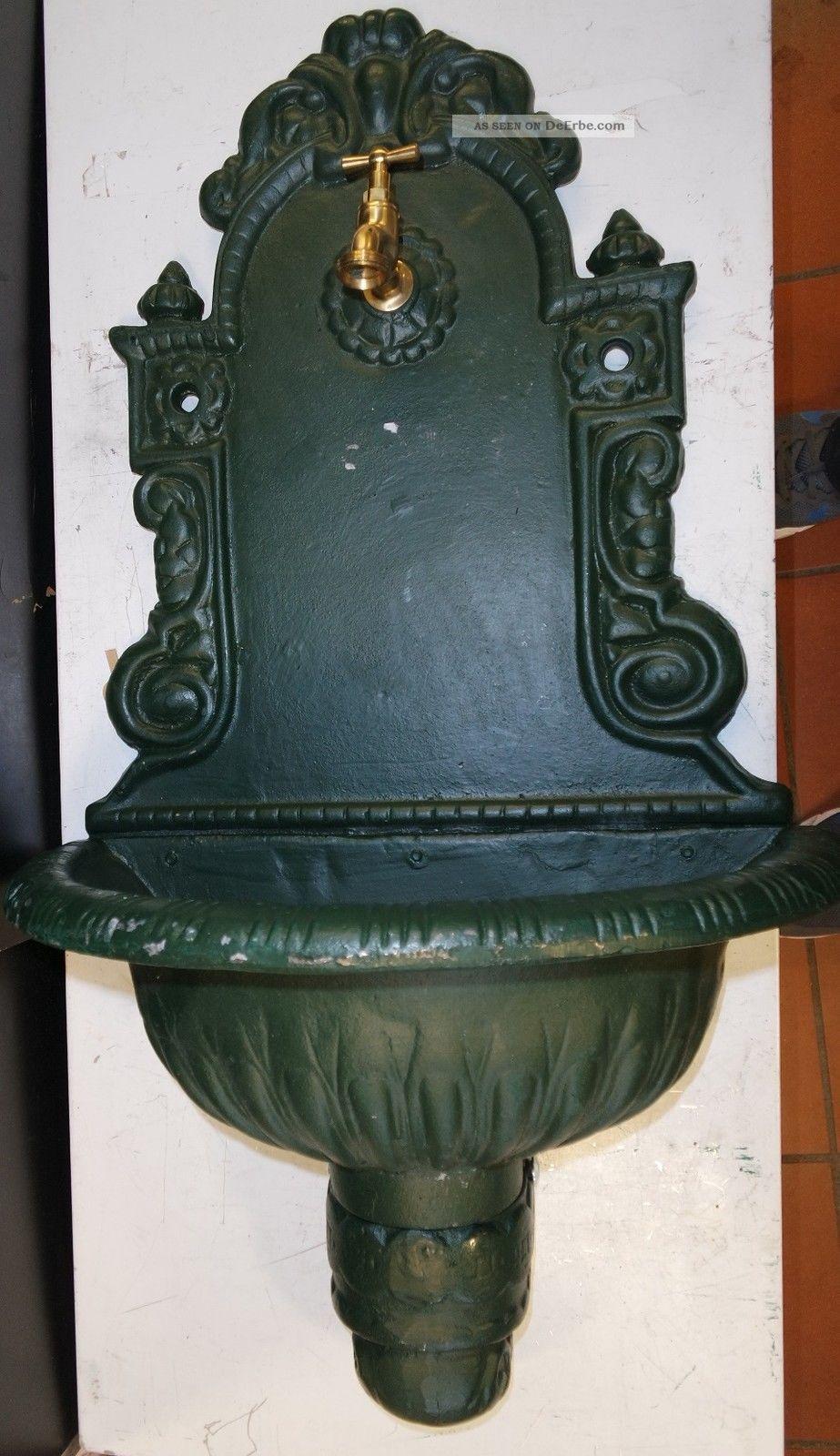Puteus 15132 - E Nostalgie - Wandbrunnen Grauguß Grün Lackiert Händler D18851 Brunnen Bild