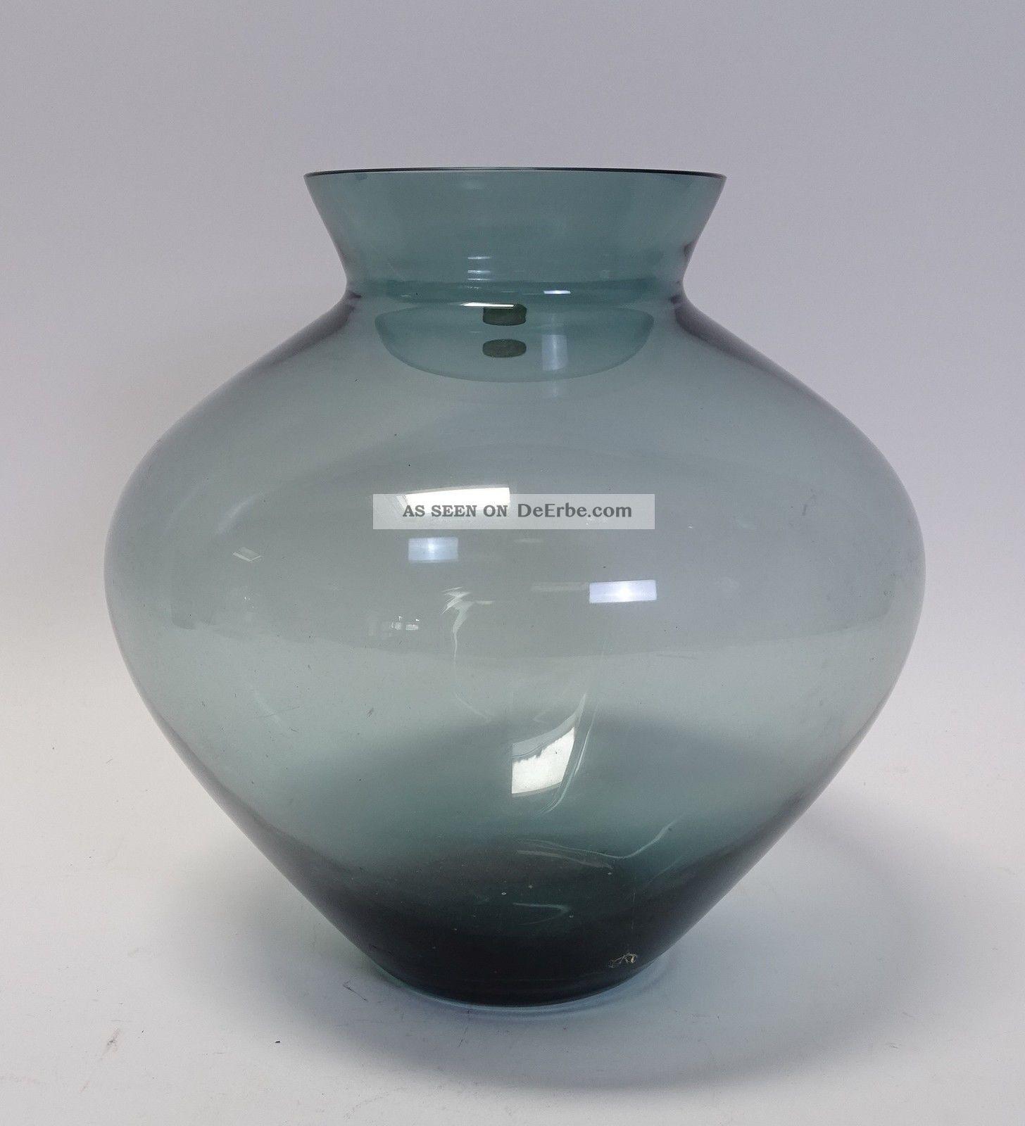 Prof.  Wilhelm Wagenfeld Riesige Wmf Herzvase Vase Turmalinfarben 1950-1959 Bild
