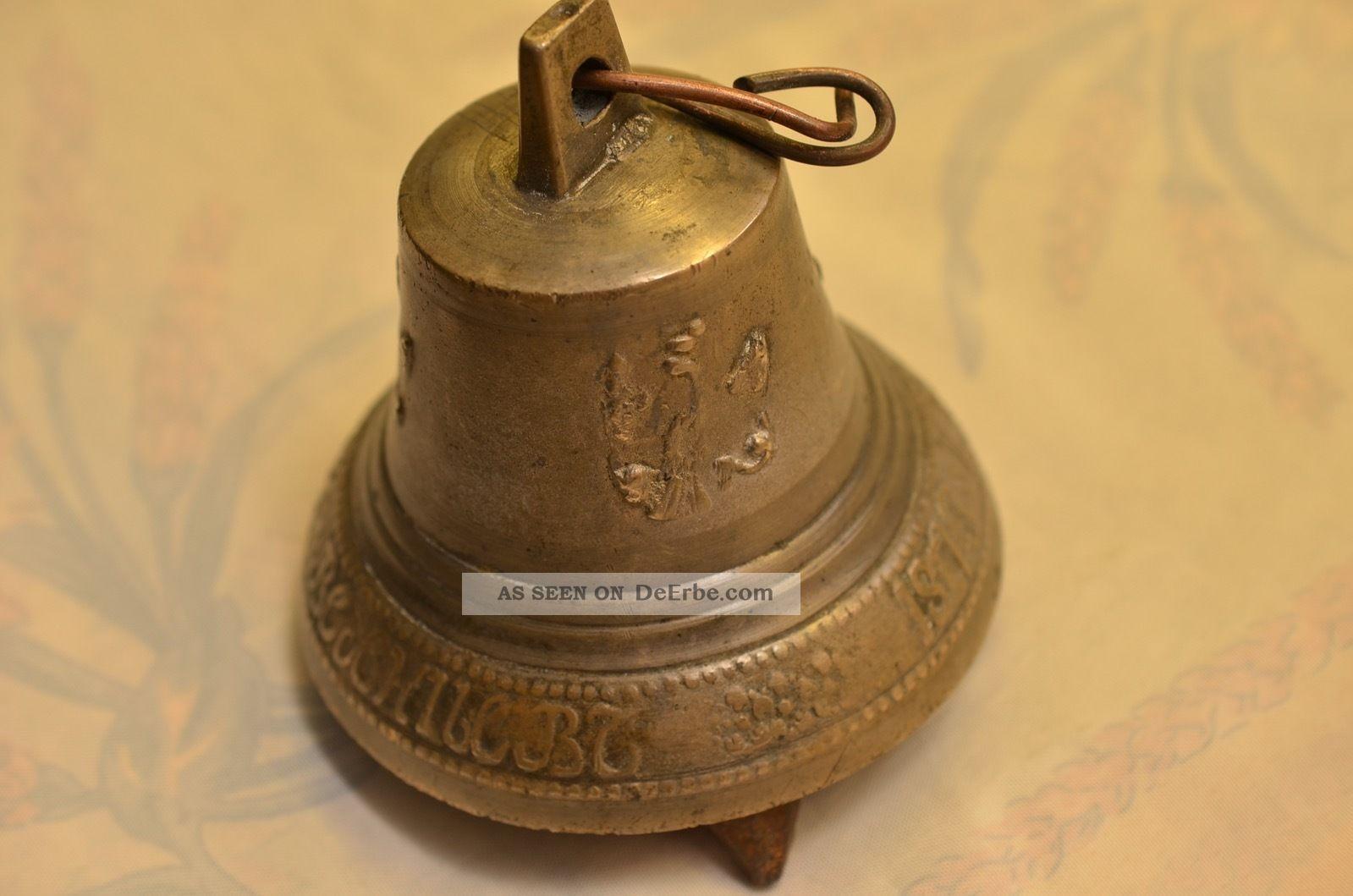 Alte Antike Russische Glocke Datiert 1873 Bronze Bild