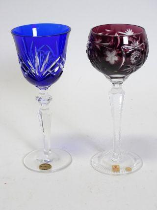 Paar Antike Weingläser Blei Kristall Nachtmann U.  Moosbauer Nördlingen Bild