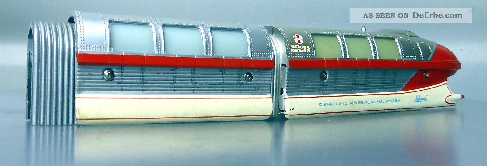Schuco Monorail 6333/0; Triebwagenzug 4 - Teilig,  Selten,  Silber/rot /d240 Original, gefertigt 1945-1970 Bild