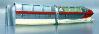 Schuco Monorail 6333/0; Triebwagenzug 4 - Teilig,  Selten,  Silber/rot /d240 Bild