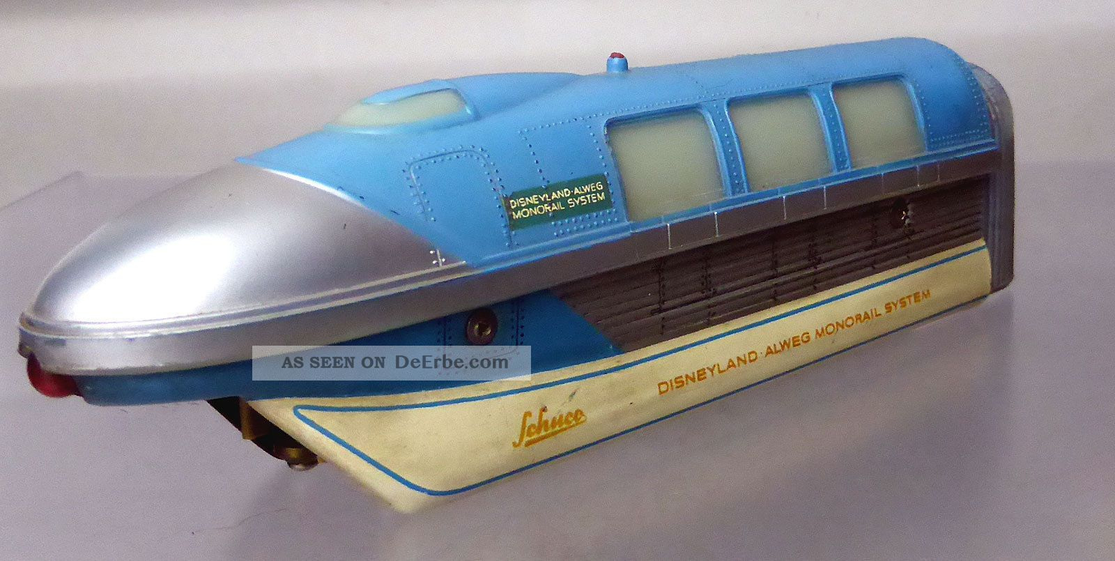Schuco Monorail 6333/0; Triebwagenzug 3 - Teilig,  Blau /d239 Original, gefertigt 1945-1970 Bild