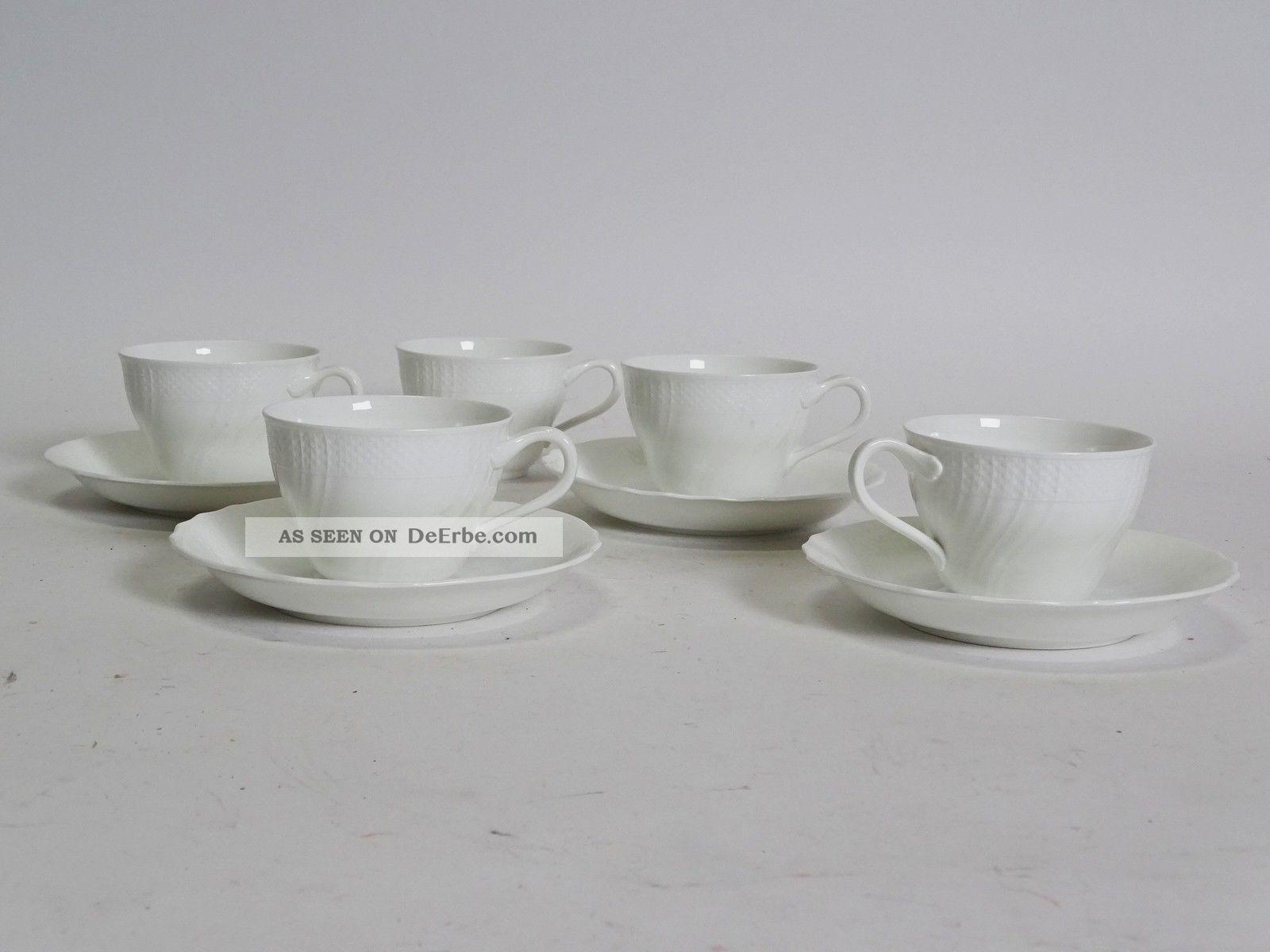 villeroy boch heinrich louisenburg wei 5 tassen 4 untertassen kaffee. Black Bedroom Furniture Sets. Home Design Ideas