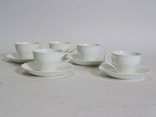 Villeroy & Boch Heinrich Louisenburg Weiß 5 Tassen 4 Untertassen Kaffee Bild