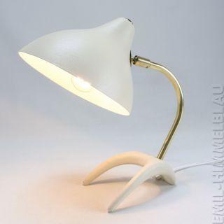 Louis Kalff KrÄhenfuss Tischlampe 50s Lampe Beige 50er Vintage Leuchte Desk Lamp Bild