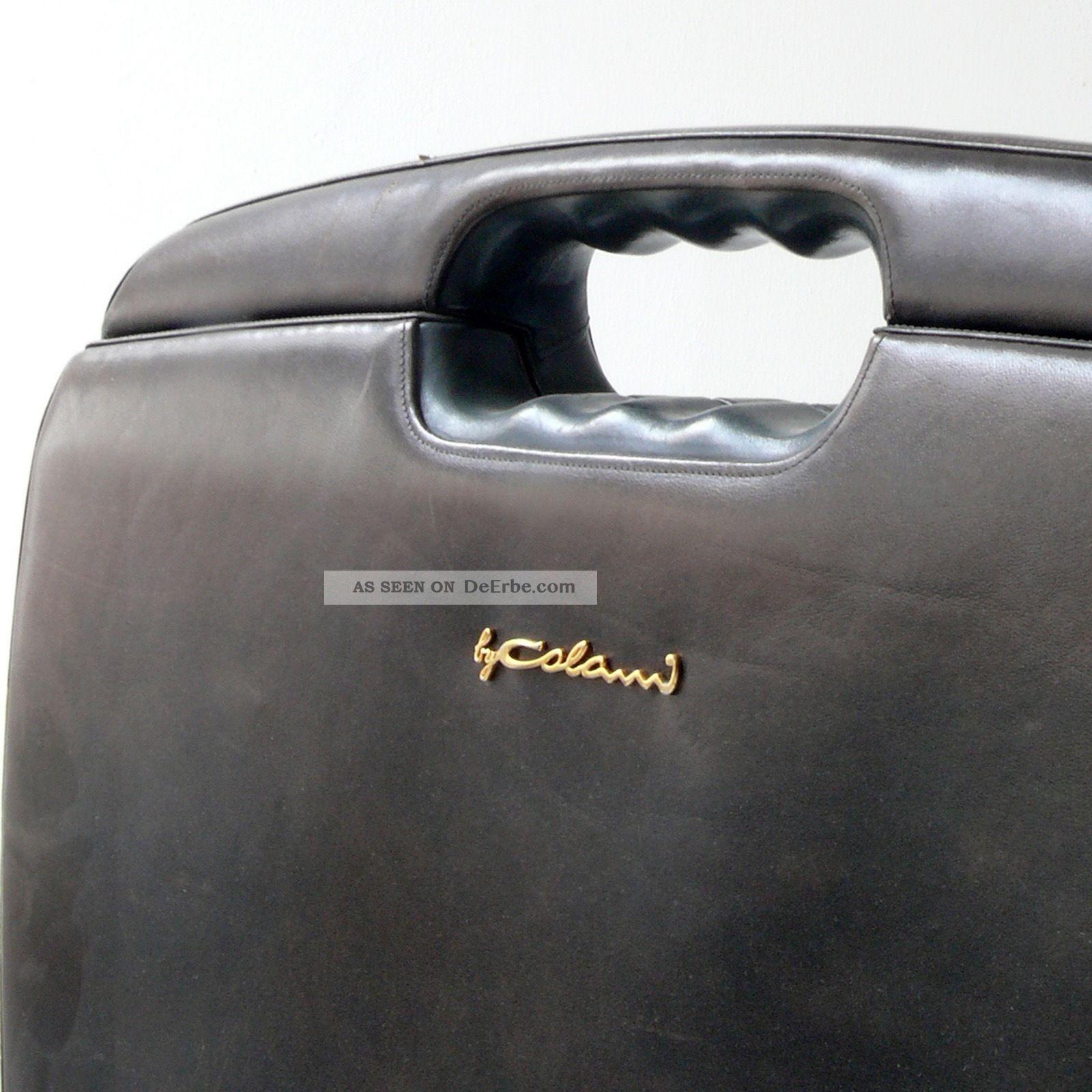 Aktenkoffer Briefcase Luigi Colani Grünes Leder Etienne Aigner Biomorphic Design 1970-1979 Bild