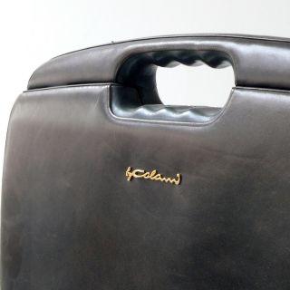 Aktenkoffer Briefcase Luigi Colani Grünes Leder Etienne Aigner Biomorphic Design Bild