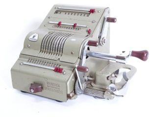 Antike Brunsviga Maschinenwerke Ag Braunschweig Rechenmaschine Bild