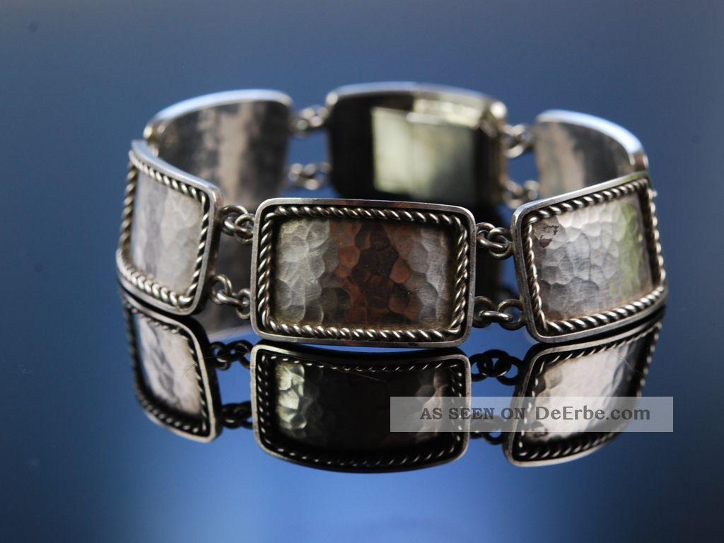 Massives Art Deco Armband Bauhaus Signiert Perli Silber Um 1930 Silver Bracelet Schmuck nach Epochen Bild