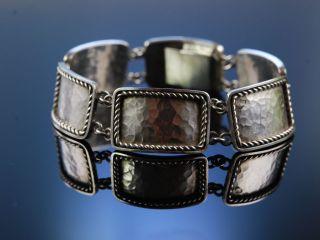 Massives Art Deco Armband Bauhaus Signiert Perli Silber Um 1930 Silver Bracelet Bild