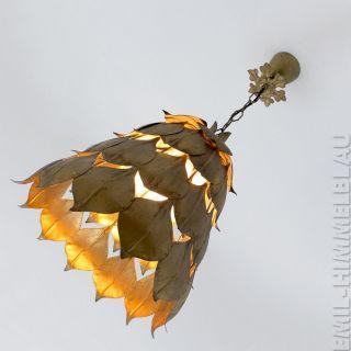 Lampe Eisen Blattgold Lamp Vintage Gold Leaf BlÄtter Artischocke Hollywood Bild