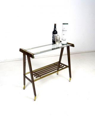 Vintage Danish Modern Beistelltisch 60er Cocktail Bar Tisch Mid Century Bild