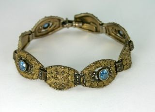 Art Deco Armband 925 Silber Theodor Fahrner Mit Farbsteinen Armschmuck Bild