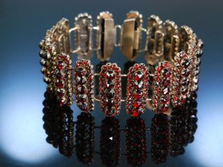 Antikes Granat Armband BÖhmen Um 1850 Biedermeier Tracht Antique Garnet Bracelet Bild