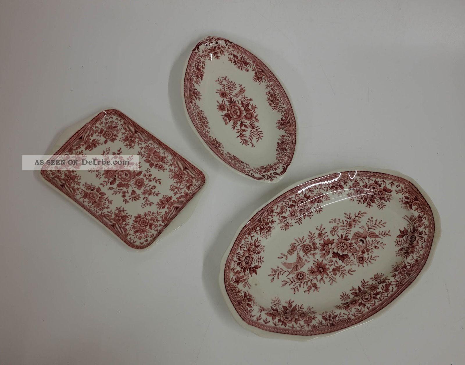 2 X Platte,  1 Schale Villeroy & Boch Fasan Rot Nach Marke & Herkunft Bild
