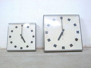 2x Uhr Wanduhr Tn Nebenuhr 60s Fabrikuhr Industrieuhr Industrial Style Bild