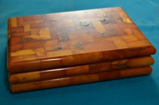 Seltenes Sammlerstück Bernsteinschatulle Amber Butterscotch Königsberg Pr. Bild