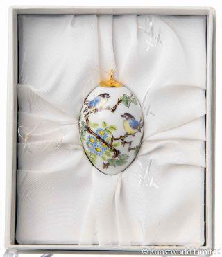 Miniaturei Vogelpaar Mit Herbsaster Meissen 1.  Wahl Neuwertig Bild
