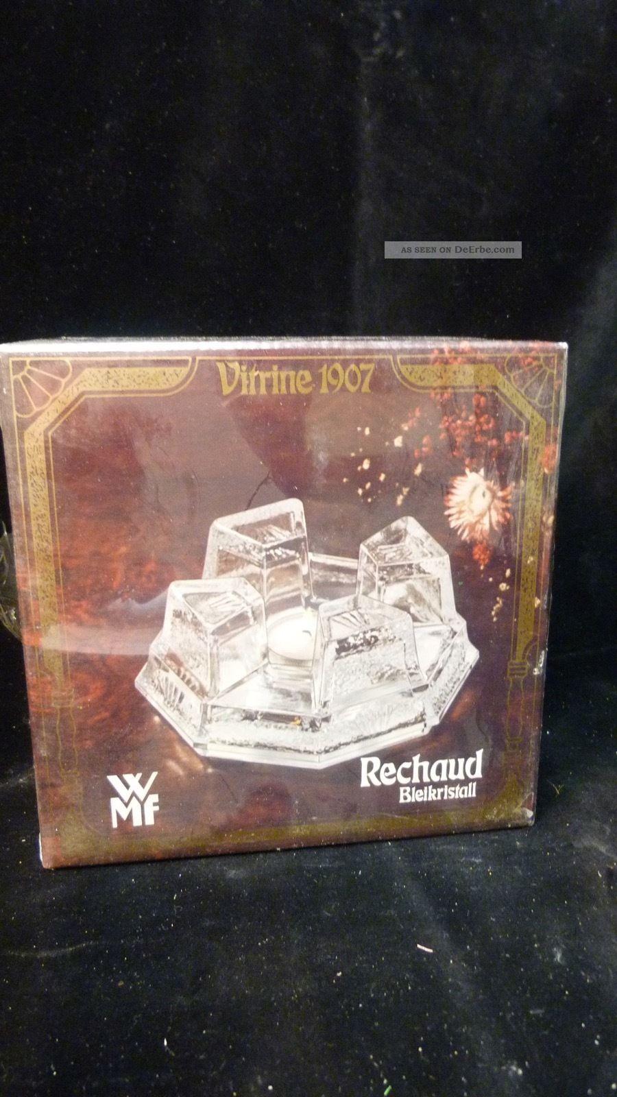 Wmf Bleikristall StÖvchen - Sehr Schwer - 70er Jahre Ovp - Vintage Design - 1970-1979 Bild