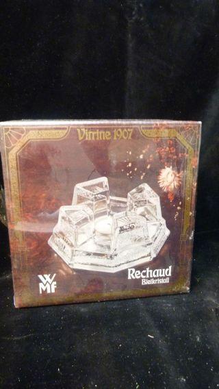 Wmf Bleikristall StÖvchen - Sehr Schwer - 70er Jahre Ovp - Vintage Design - Bild
