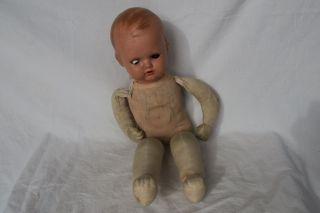 Alte Puppe Mit Stoffkörper,  Vermutlich Schildkröte,  Ca.  1930 Oder Früher Bild