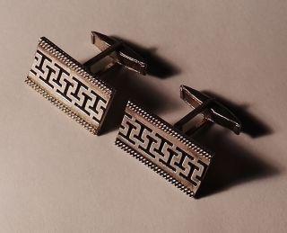 2 Stck.  1 Paar Manschettenknöpfe 900 Er Silber Antik Silberknöpfe Art Deco Bild