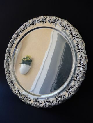 : Jugendstil Tablett Floral Versilbert Flower Art Nouveau Tray F Glass Wmf Style Bild