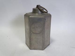 Sehr Große Antike Zinn Schraubflasche Schraubkanne Sammelwürdig Vor 1900 Bild