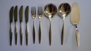9 - Tlg.  Versilbertes Besteckset Wmf Dekor Florenz 90er Silberauflage Bild