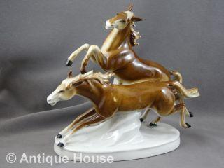 Thüringen Figur Porzellanfigurengruppe 2 Pferde Modell 7315 Bild