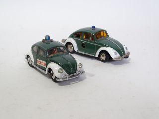 Corgi Schuco Blechspielzeug 2 Seltene Vw Käfer Polizei Modellautos Bild