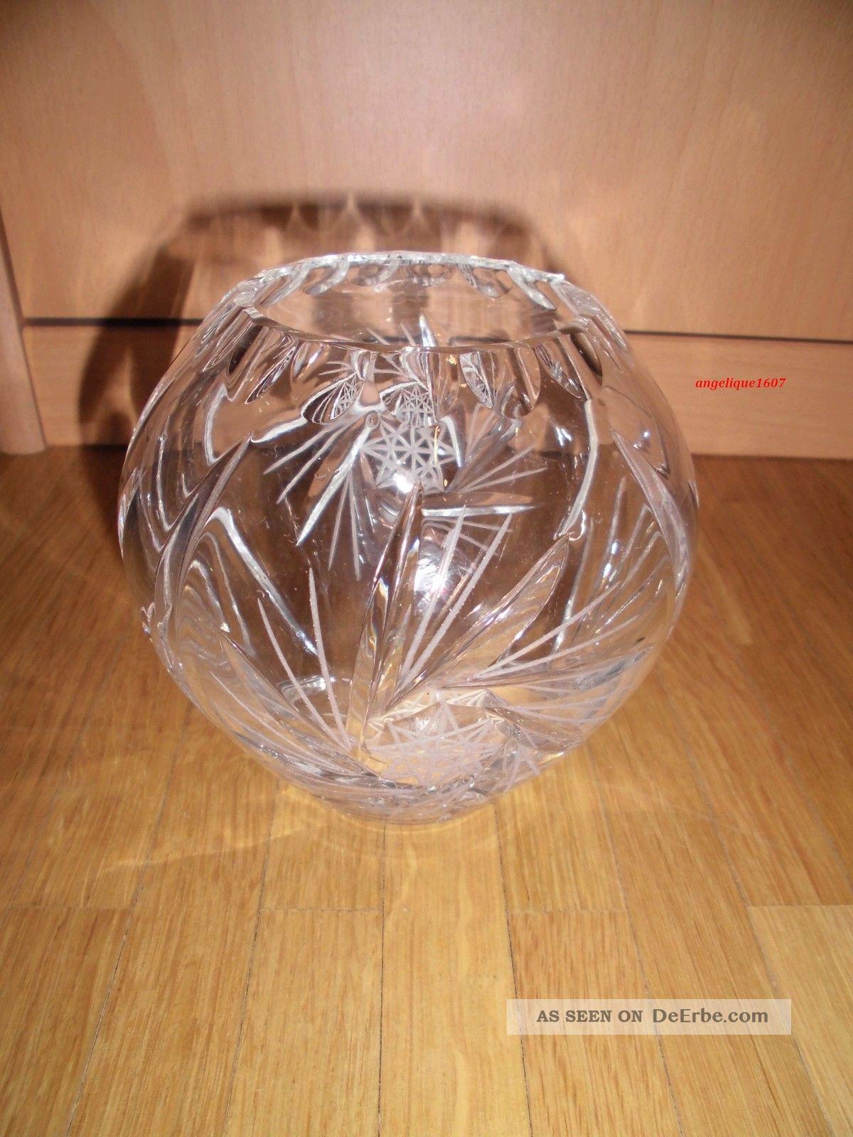 Schöne Alte Kristall - Vase Bleikristall Schleuderstern Ca.  10 Cm Kristall Bild