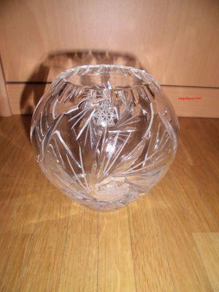 Schöne Alte Kristall - Vase Bleikristall Schleuderstern Ca.  10 Cm Bild