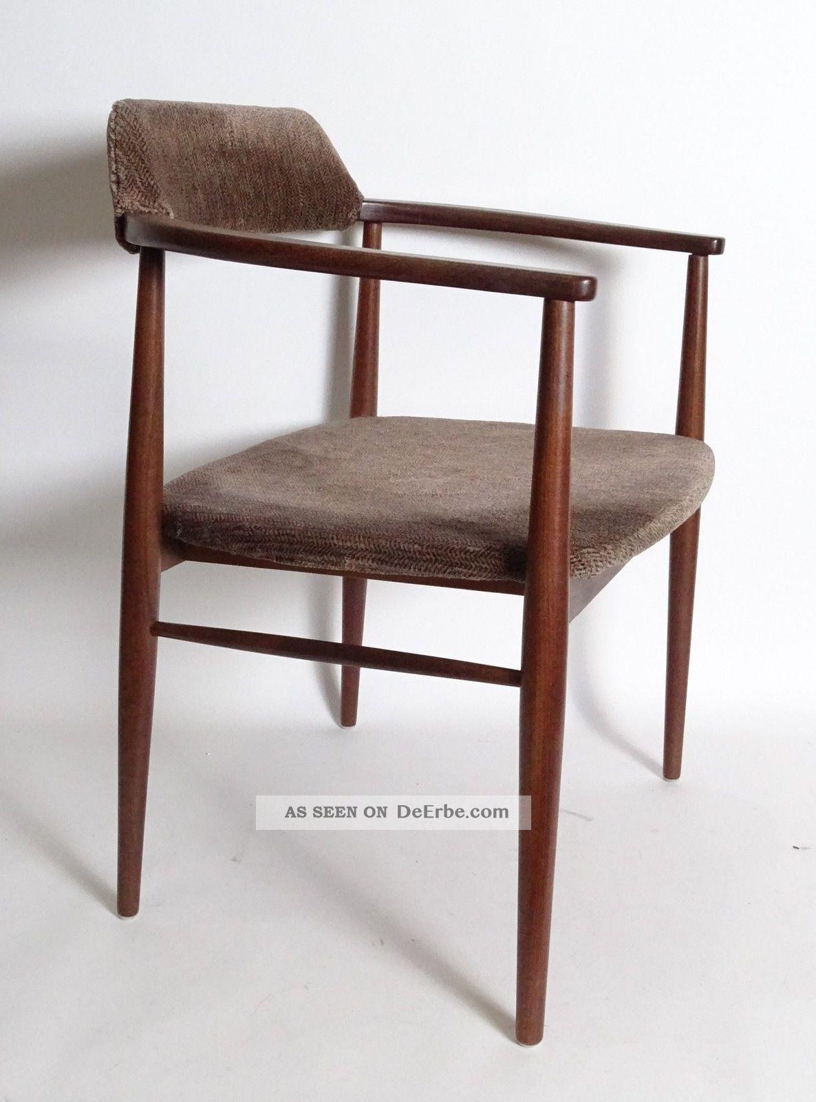 True Vintage Danish Design 50/60er Jahre Armlehnstuhl Stuhl Wohl Teakholz 1950-1959 Bild