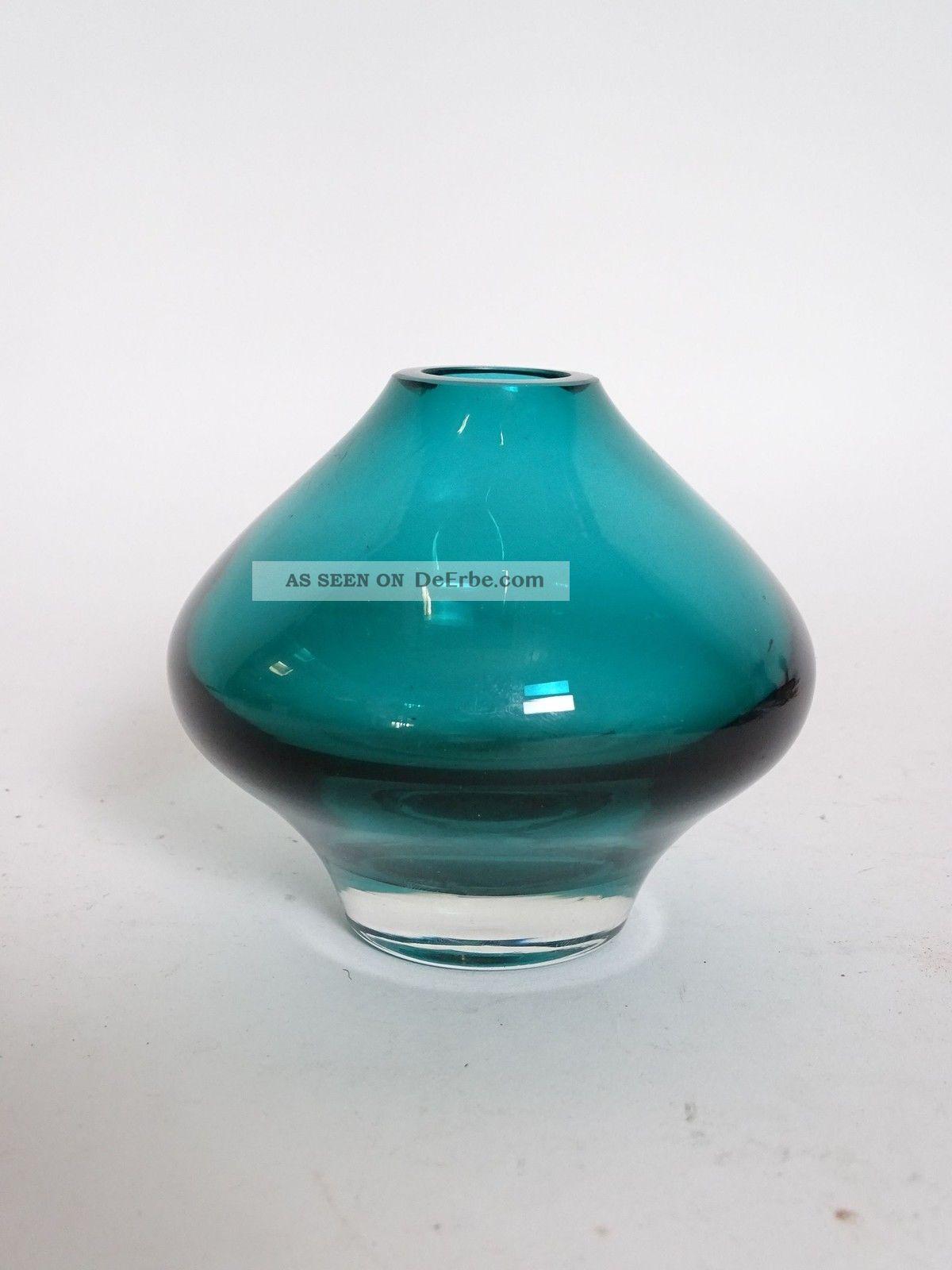 Lasi Oy Riihimäen Finnland Suomi Design Glasvase Nummer 1437 Überfang Grün Sammlerglas Bild