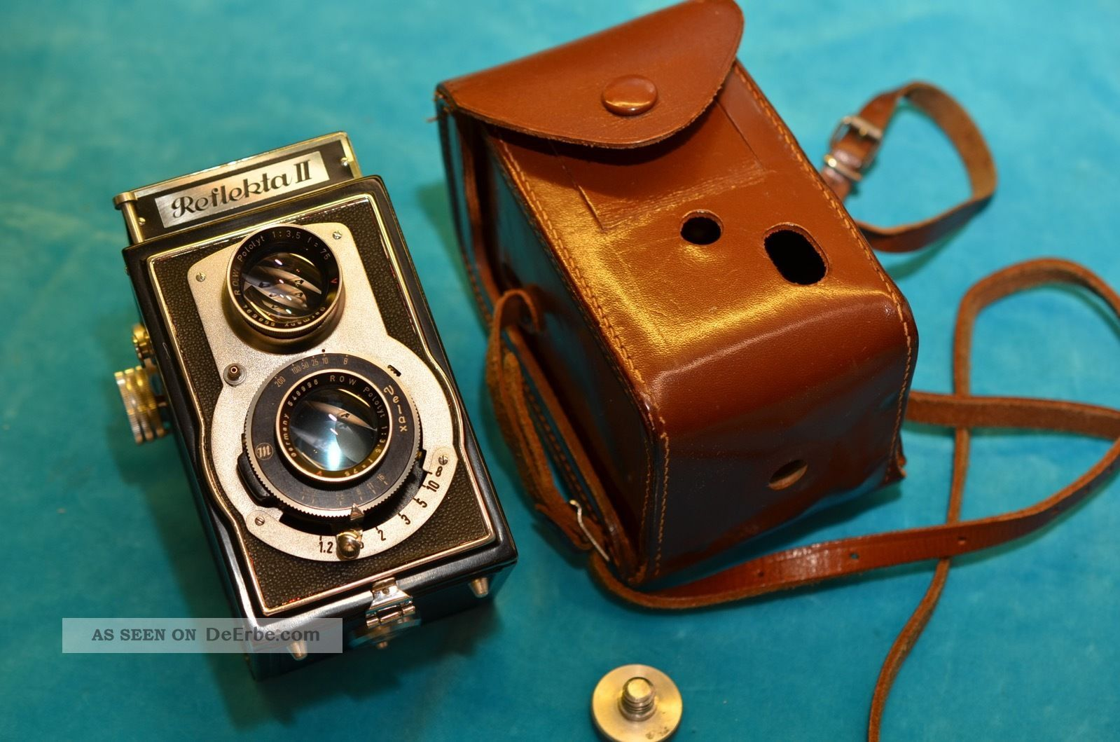 Alte Reflekta Ii Rollfilmkamera 6x6 Mit Ledertasche Photographica Bild
