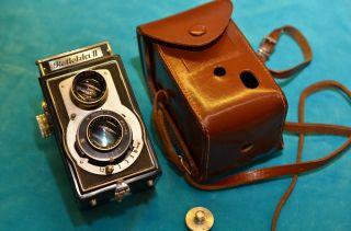 Alte Reflekta Ii Rollfilmkamera 6x6 Mit Ledertasche Bild