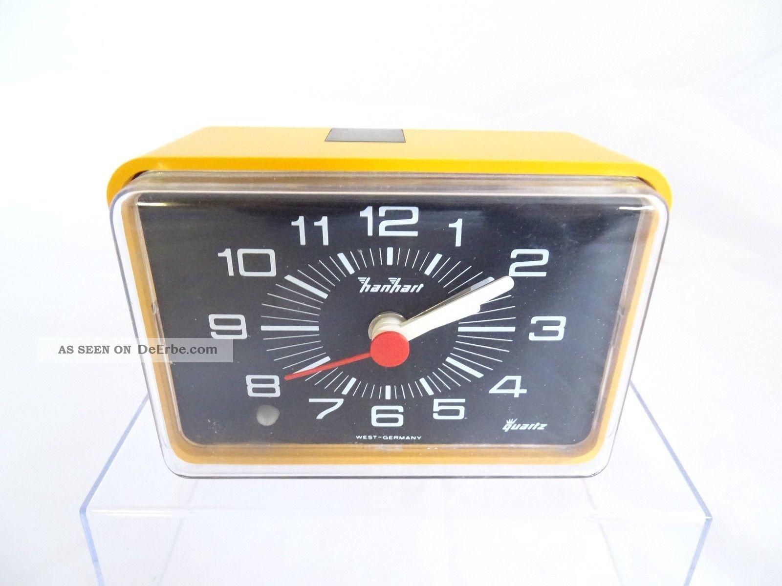 Panton Ära Seltene Hanhart Rarität Wecker Quartz Orange 70er Jahre 70s Design 1970-1979 Bild