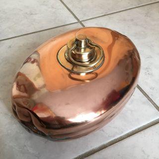 Antike Bettflasche / Wärmflasche - Kupfer / Messing - Dachbodenfund Bild