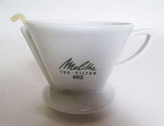 Rarität Melitta Porzellan Tee Filter Nr.  402 1 - Loch Mit Stab Bild