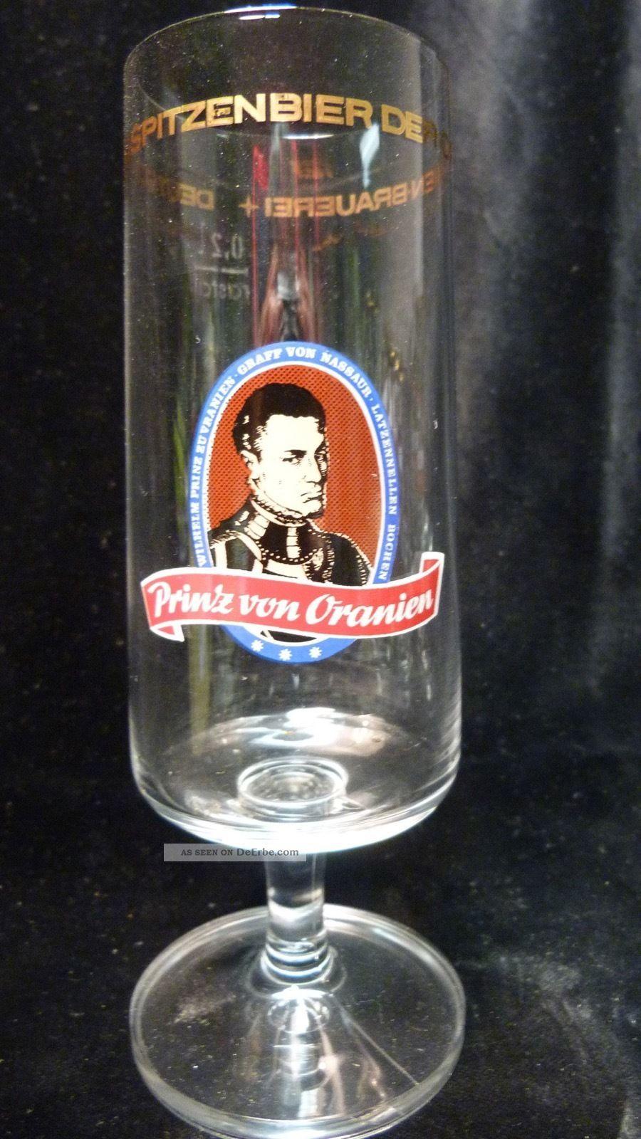 Altes Vintage Bierglas - Prinz Von Oranien Dillenburger Oranien - Ca.  60er Sammlerglas Bild